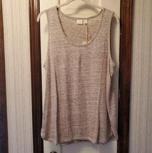 NWT  Linen sleeveless top